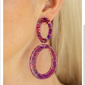 Acrylic purple earrings